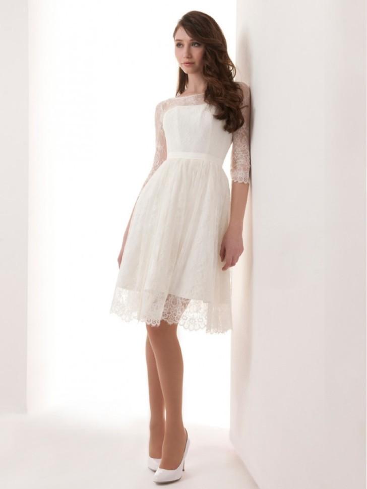 Скромное Белое Платье