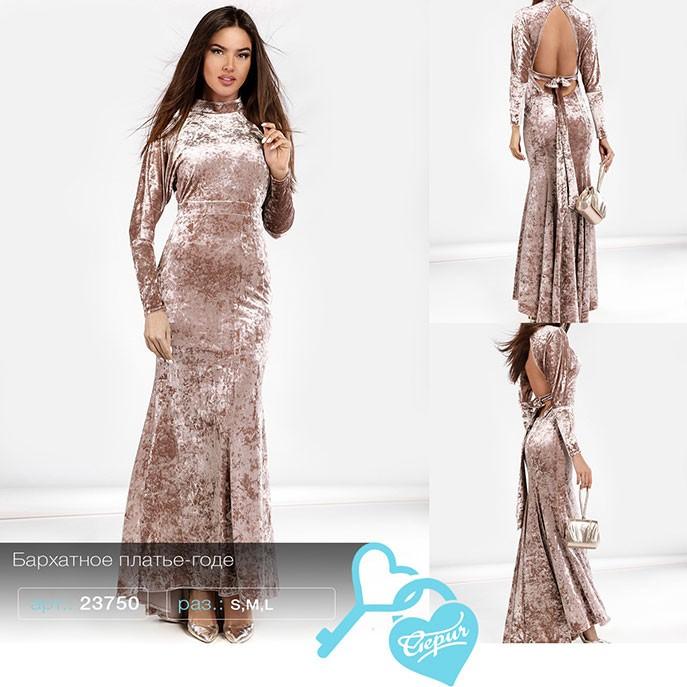 ba8e3e8576b Купить бархатное платье-годе 23750 в интернет магазине mirplatev.ru ...